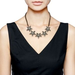 J. Crew Pave Star Necklace in Gray